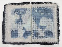 the blue hour, 2015 ink, mending tape, Tengucho an...