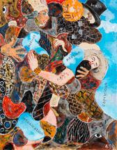 Arabian Dream Two Eyes, 2015 acrylic on canvas 46...