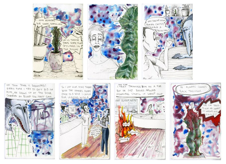Lucia Love Episode 9, 2016 watercolor and ink on p...