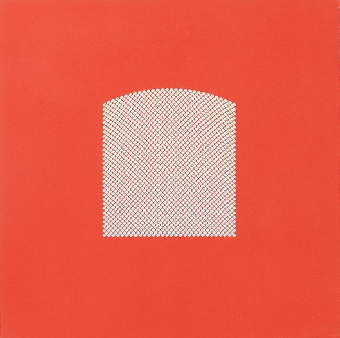 Red Window Link, 2008 Paper on panel 15.75 x 15.75...