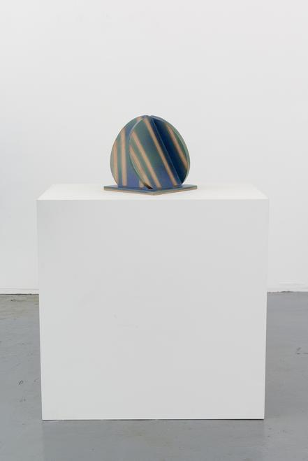 John Mason [American, b. 1927] Orb, Blue/Green on...