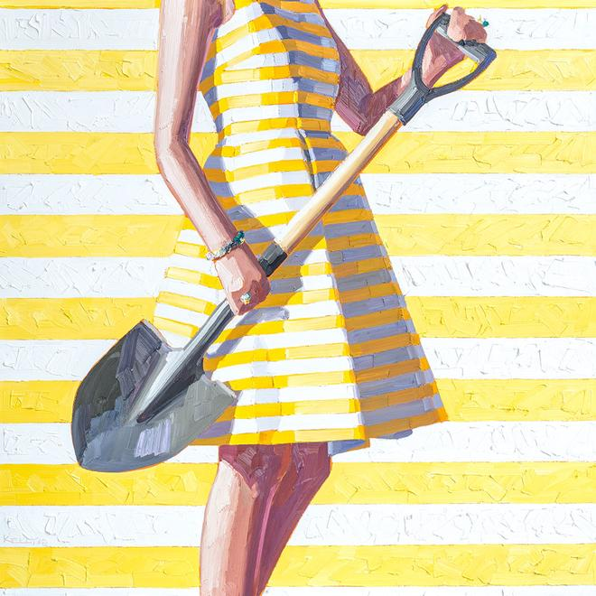 Kelly Reemtsen [American, b. 1967] Striped, 2018 O...