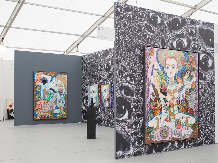 Installation view: Del Kathryn Barton, UNTITL...