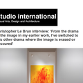 Christopher Le Brun Interview