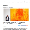 Christopher Le Brun RA To Mount Two US Exhibitions...