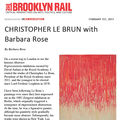 Christopher Le Brun with Barbara Rose