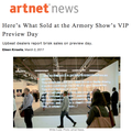 Here's What Sold at the Armory Show's Vip Preview...