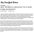 Art: World's Greatest in a New York Basement