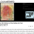 The 9th Edition of the Dallas Art Fair Opens April...