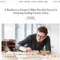 A Residency at Europe's Oldest Porcelain Factory...