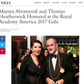 Marina Abramović and Thomas Heatherwick Honored a...
