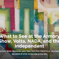 What to See at the Armory Show, Volta, NADA, and t...