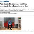 Arts head: Christopher Le Brun, president, Royal A...