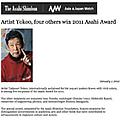 Artist Yokoo, four others win 2011 Asahi Award